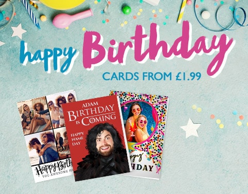 Personalised Birthday Cards - From £1.99