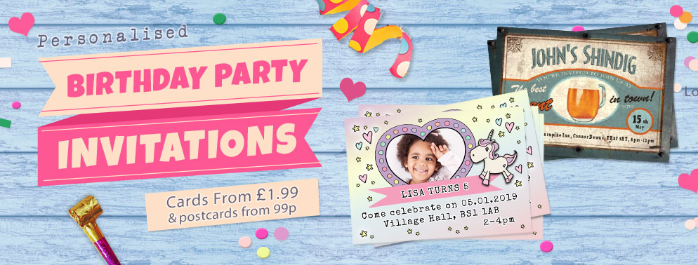 View All Birthday Party Invitation Cards