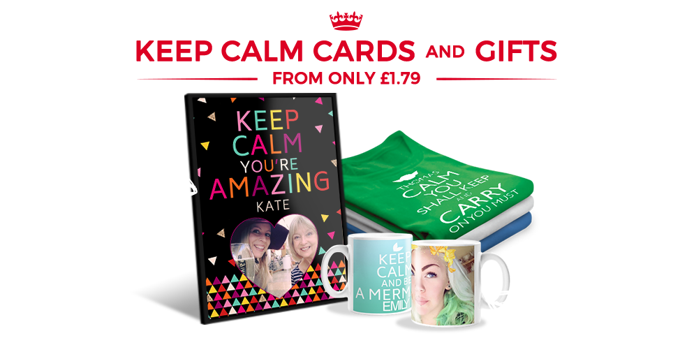 Personalised Keep Calm Maker Cards & Gifts