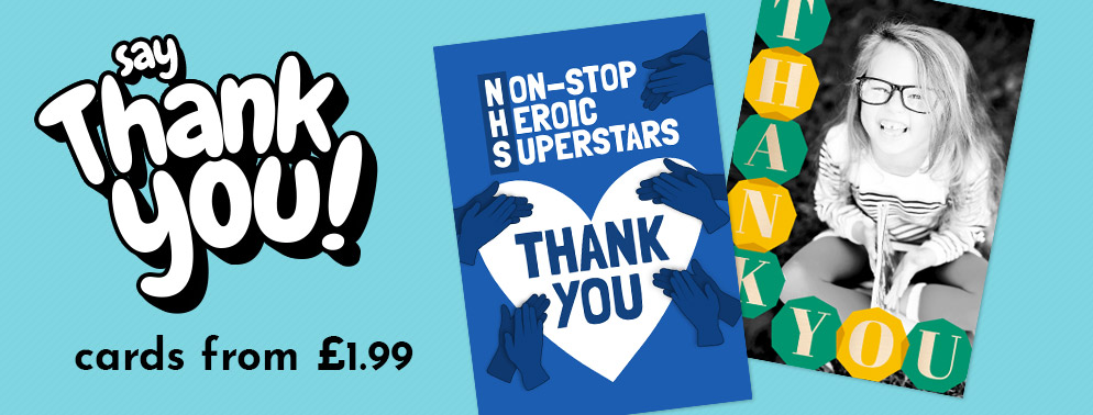 Thank You Cards from £1.79