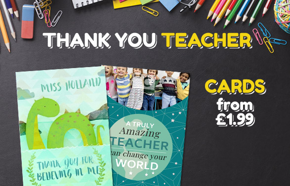 Thank You Teacher Cards - From £1.99