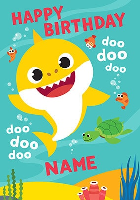 Baby Shark Personalised Birthday Card